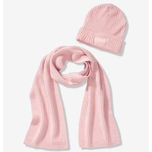 PINK Victoria's Secret Accessories - NWT PINK Victoria's Secret Beanie & Scarf Set